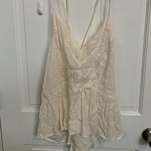 American Eagle white lace tank top